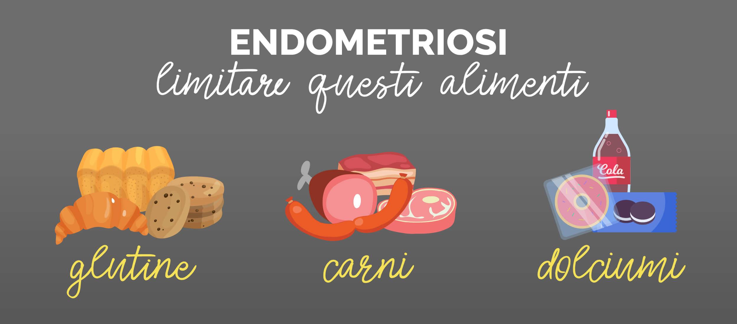 endometriosi alimenti da evitare